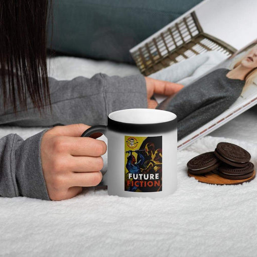 Future Fiction Matte Black Magic Coffee Mug! - Phoenix Artisan Accoutrements