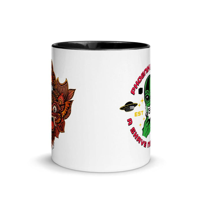 Garden of Bali Coffee Mug with Color Inside | Two Options! - Phoenix Artisan Accoutrements