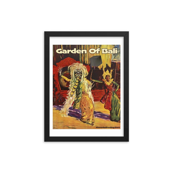 Garden Of Bali Framed Print - Phoenix Artisan Accoutrements