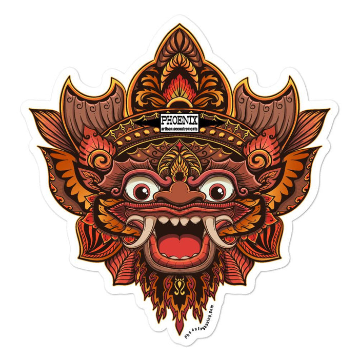 Garden of Bali Vinyl Bubble-Free Stickers | Available in 3 Sizes - Phoenix Artisan Accoutrements