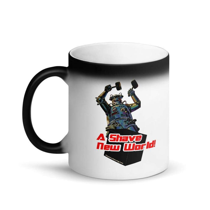 Hammering Robot Matte Black Magic Coffee Mug - Phoenix Artisan Accoutrements
