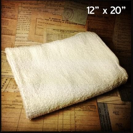 "Barber's Terrycloth 12"" x 20"" Hot Towel"