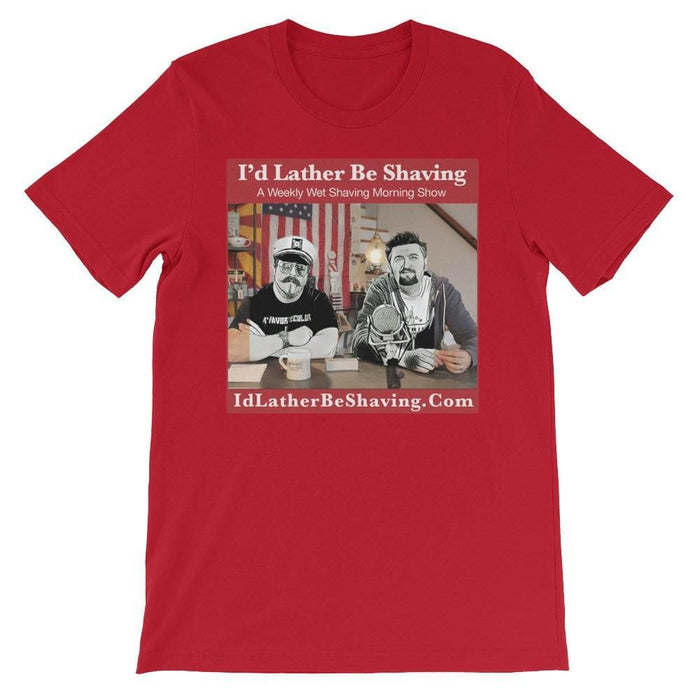 I'd Lather Be Shaving - Unisex short sleeve t-shirt - Phoenix Artisan Accoutrements