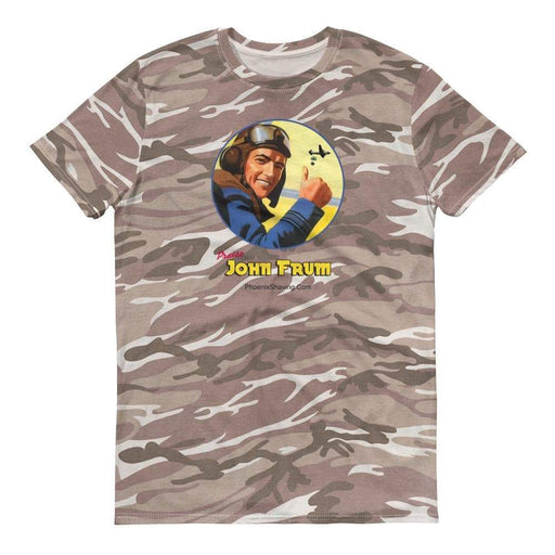 John Frum Camo Short-sleeved camouflage t-shirt - Phoenix Artisan Accoutrements