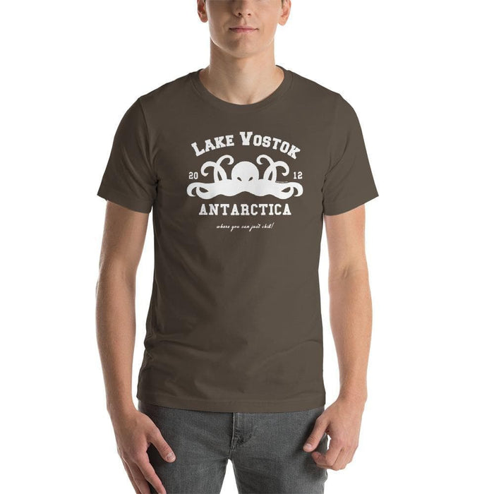 "Lake Vostok Tourist T-Shirt - ""where you can just chill!"" - Phoenix Artisan Accoutrements"