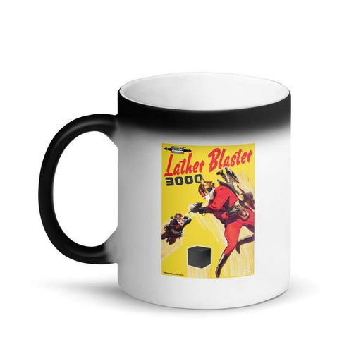 Lather Blaster 3000 Matte Black Magic Mug 2 - Phoenix Artisan Accoutrements