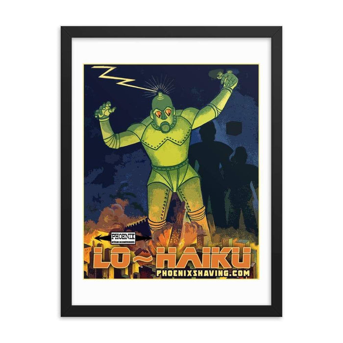 Lo-Haiku Framed Print - Dress up that shave den! - Phoenix Artisan Accoutrements