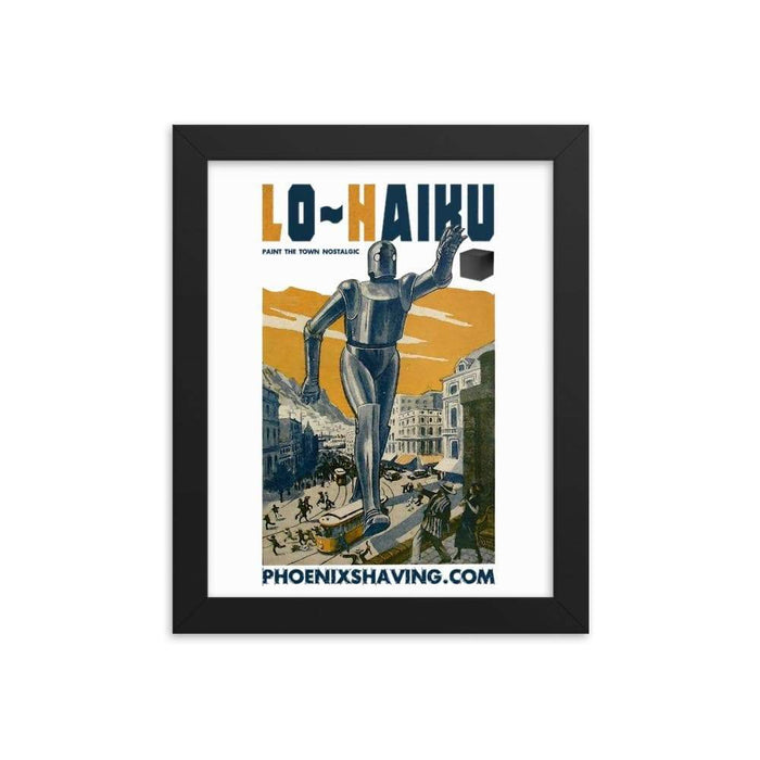Lo~Haiku Framed Print | Epic Sci-Fi Shave Art - Phoenix Artisan Accoutrements