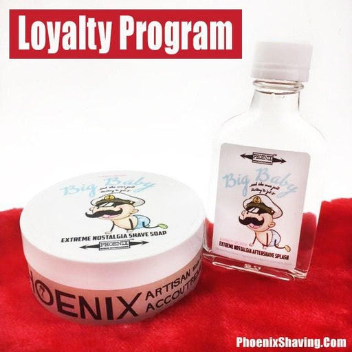 Big Baby Artisan Shave Soap & Aftershave/Cologne Bundle - Baby Powder - Loyalty Program Product - Phoenix Artisan Accoutrements