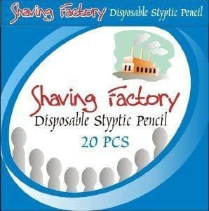SHAVING FACTORY DISPOSABLE STYPTIC PENCIL MATCHBOOK- 20 Sticks