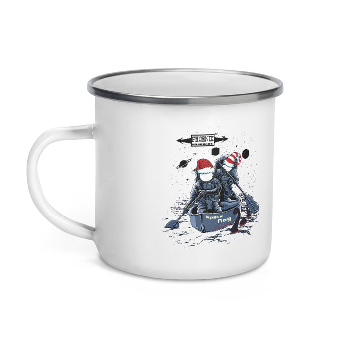 Space Nog Classic Enamel Camper's Coffee Mug - Phoenix Artisan Accoutrements