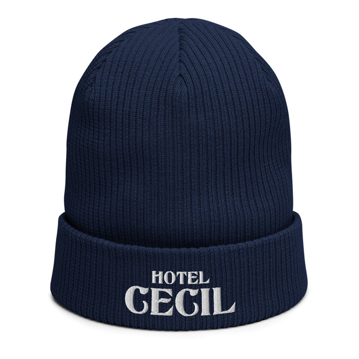 Hotel Cecil Organic Cotton Ribbed Beanie - Phoenix Artisan Accoutrements