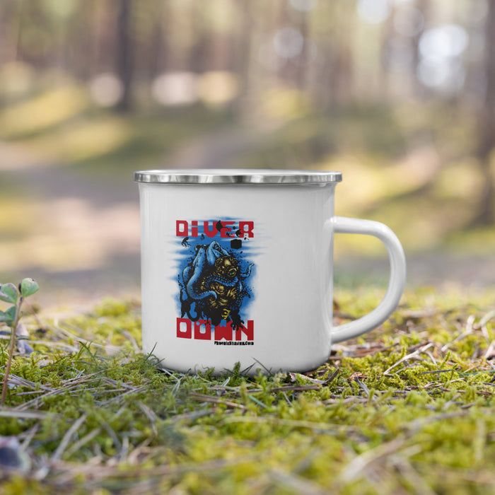 Diver Down Homage to the Original Seaforth Spiced! Classic Enamel Camper's Coffee Mug - Phoenix Artisan Accoutrements