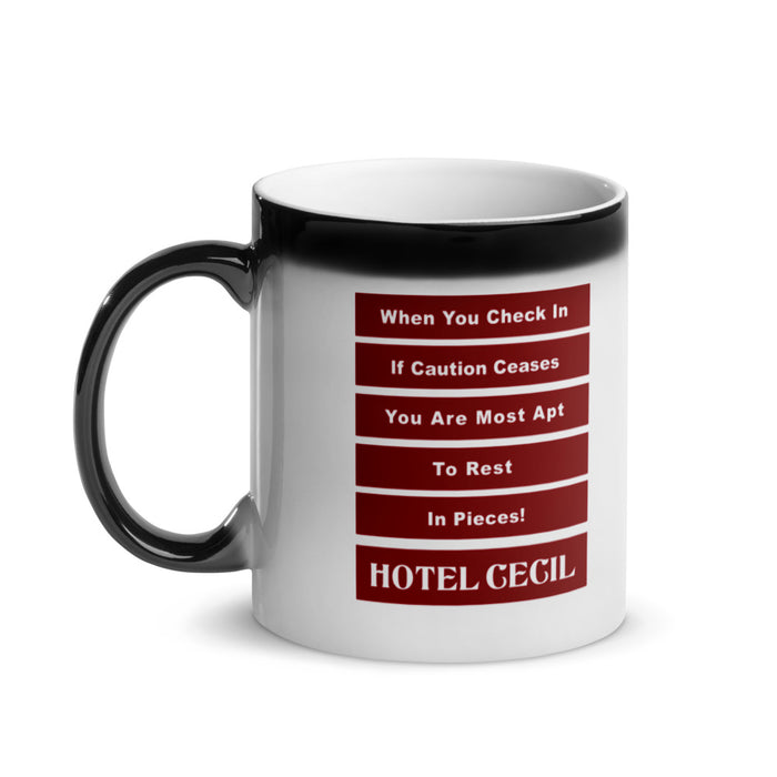 Hotel Cecil Glossy Magic Coffee Mug Alternate Jingle - Phoenix Artisan Accoutrements