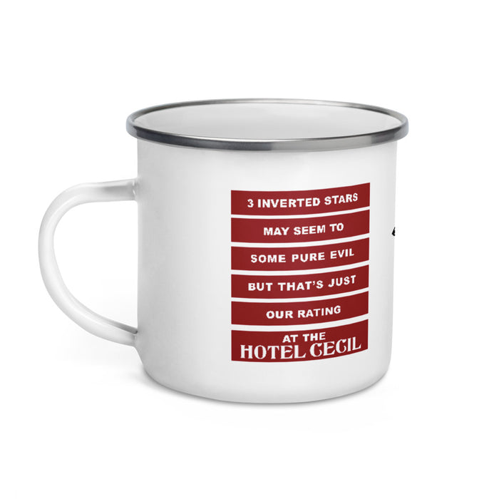 Hotel Cecil Classic Campers Enamel Mug - Phoenix Artisan Accoutrements
