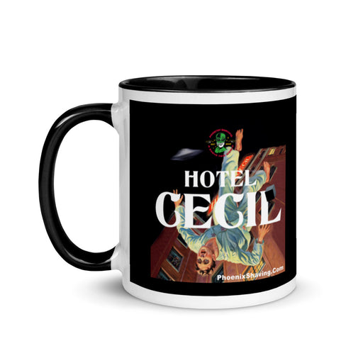 Hotel Cecil Coffee Mug with Color Inside | 2 Colors Avaialble! - Phoenix Artisan Accoutrements