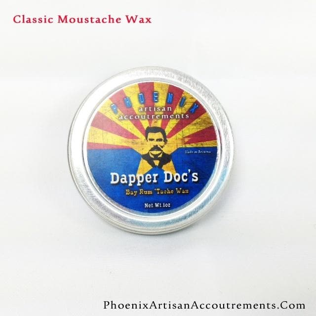 "Moustache Wax - ""Dapper Doc's Bay Rum 'Tache Wax"""