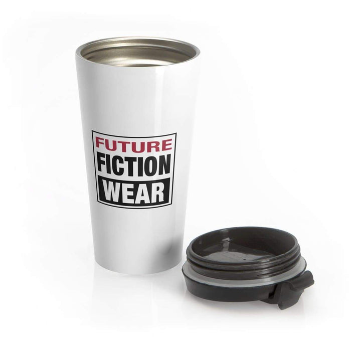 Future Fiction Wear Stainless Steel Travel Mug - Phoenix Artisan Accoutrements