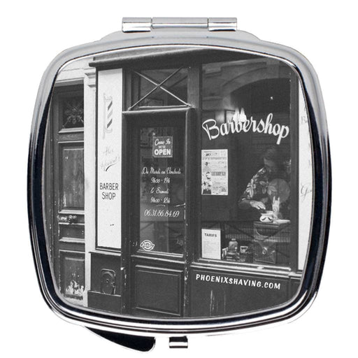 Paris Barbershop Travel Mirror - Phoenix Artisan Accoutrements