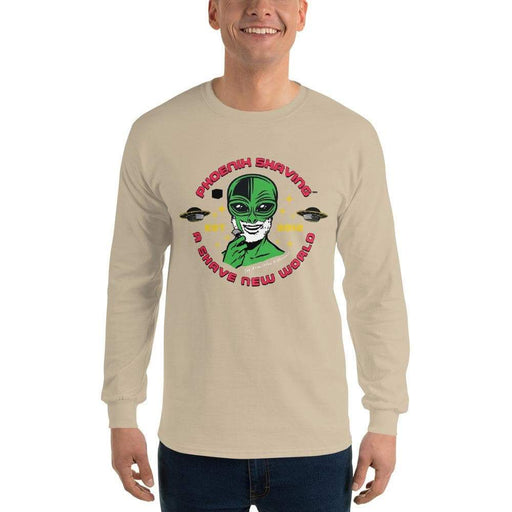 Phoenix Shaving Alien Long Sleeve T-Shirt (Astro Traveler) - Phoenix Artisan Accoutrements