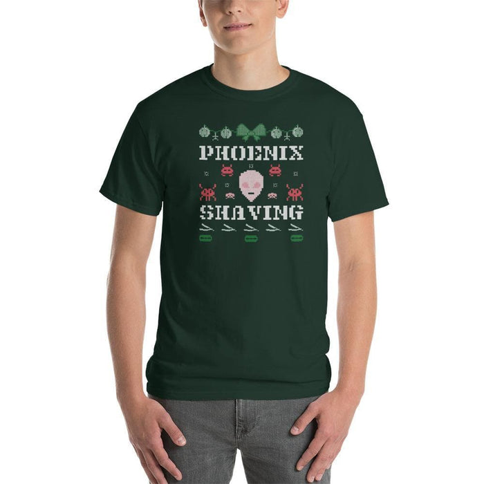 Phoenix Shaving Alien Ugly Sweater Short-Sleeve T-Shirt - Phoenix Artisan Accoutrements