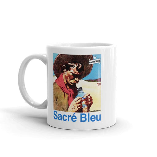Sacré Bleu Retro Coffee Mug - Phoenix Artisan Accoutrements