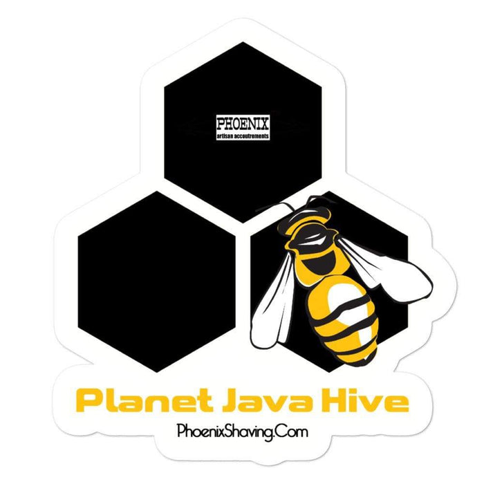 Planet Java Hive Vinyl Sticker | Available in 3 Sizes - Phoenix Artisan Accoutrements