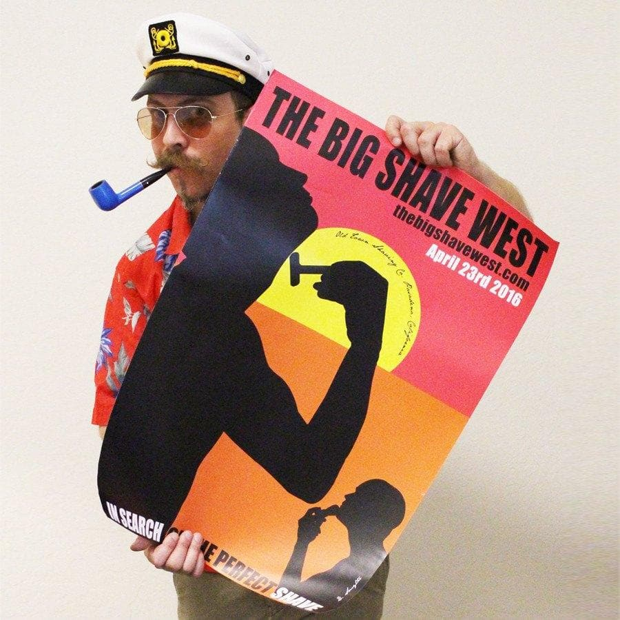 The Official Big Shave West Poster - Limited