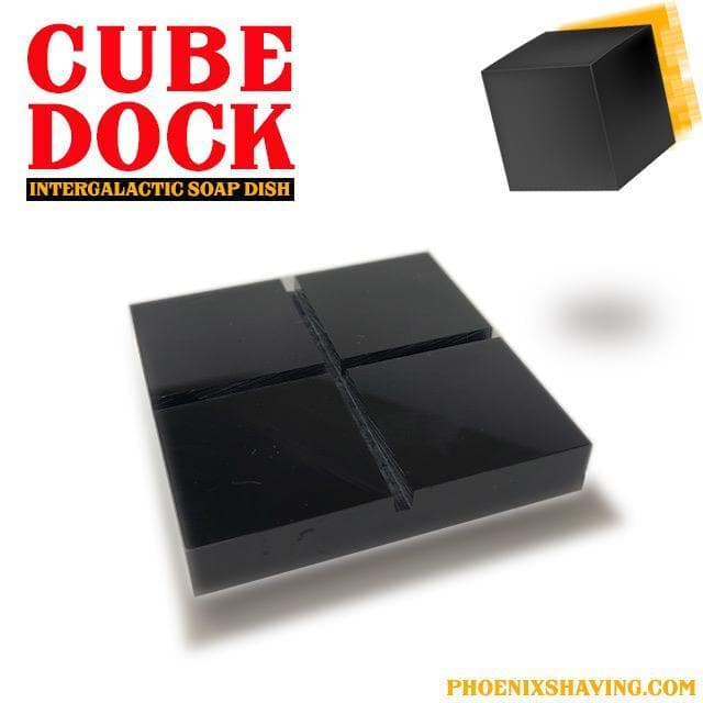 CUBE 5oz Preshave Soap - Contains Activated Bamboo Charcoal, Prickly Pear, Jojoba Oil, Sweet Almond Oil, Aloe & More! - Phoenix Artisan Accoutrements