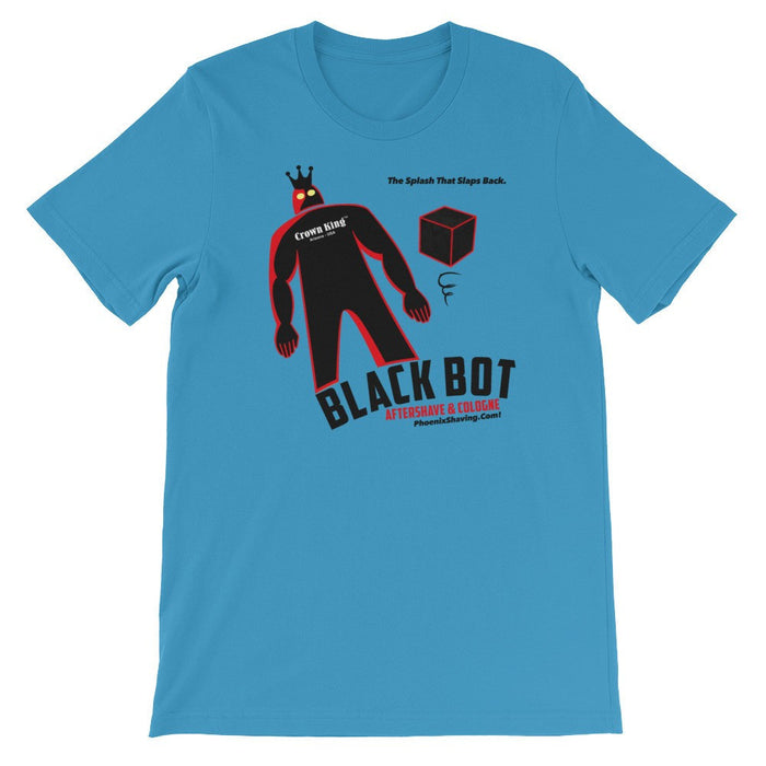 Black Bot Unisex short sleeve t-shirt - Phoenix Artisan Accoutrements
