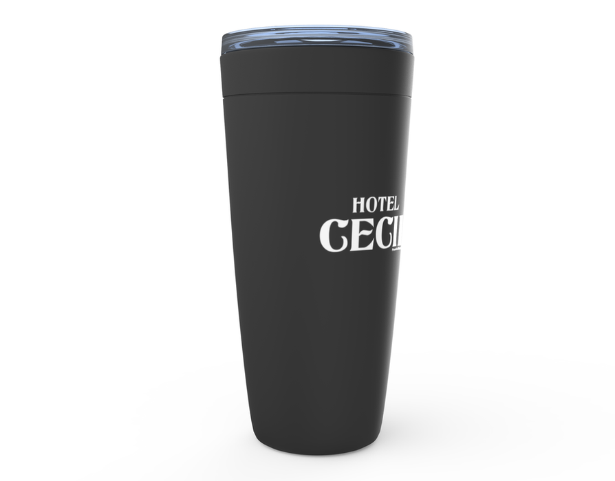 Hotel Cecil Midnight Black Viking Tumblers | For Hot & Cold Drinks! - Phoenix Artisan Accoutrements