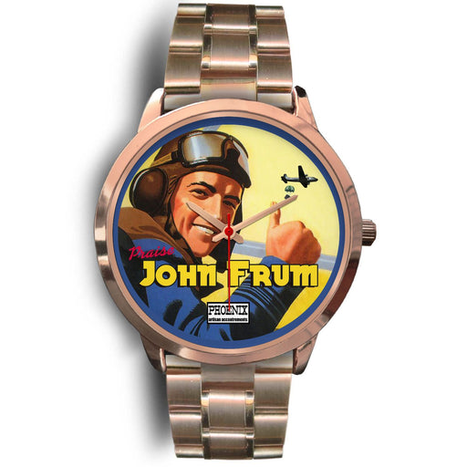 John Frum Rose Gold Wristwatch | Choose Band Option - Phoenix Artisan Accoutrements
