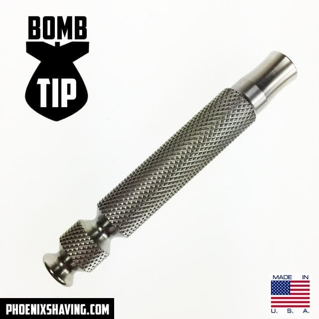 304 Stainless Steel Bomb Tip Handle - 2 Sizes! - Phoenix Artisan Accoutrements