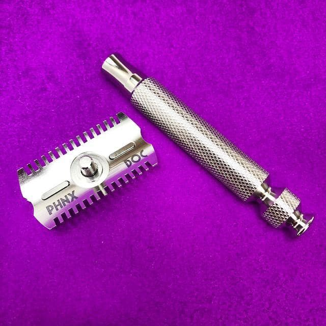 The Ascension Twist-Adjustable Double Open Comb Safety Razor - CNC Machined | 316L Stainless Steel - Phoenix Artisan Accoutrements