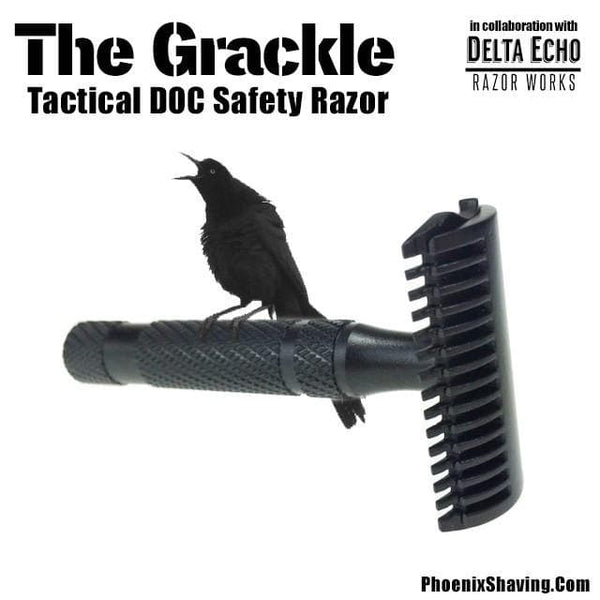 Safety Razors - The Grackle Tactical DOC Safety Razor - Non Reflective Gun Kote Coated
