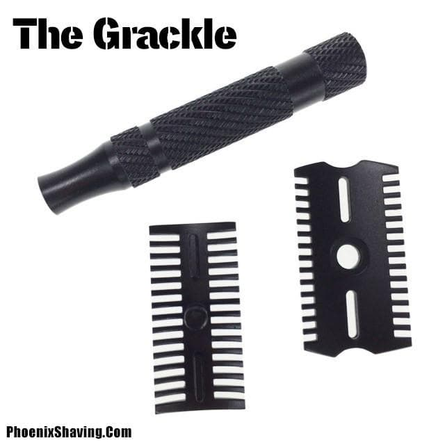 The Grackle Tactical DOC Safety Razor - Non Reflective Gun Kote Coated - Phoenix Artisan Accoutrements