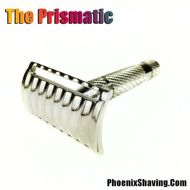 The Phoenix Prismatic Safety Razor - A Modern Take On A Classic - Nickel Plated - Phoenix Artisan Accoutrements
