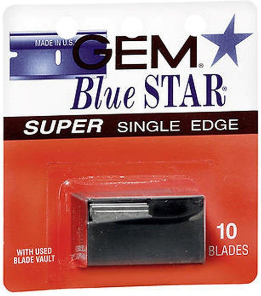 Gem Blue Star Super Single Edge 10 Blades w/Blade Vault - Phoenix Artisan Accoutrements