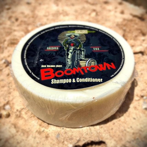 Boomtown Bay Rum Shampoo & Conditioner Puck- Gun Smoke, Leather & West Indian Bay Rum - Phoenix Artisan Accoutrements