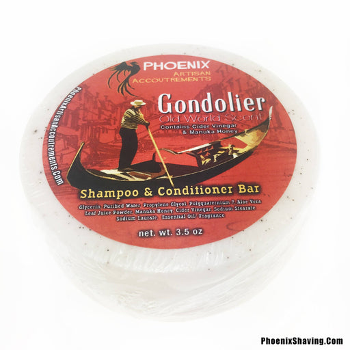 Gondolier Conditioning Shampoo Puck (W/ Yucca Root & Cider Vinegar) - Phoenix Artisan Accoutrements