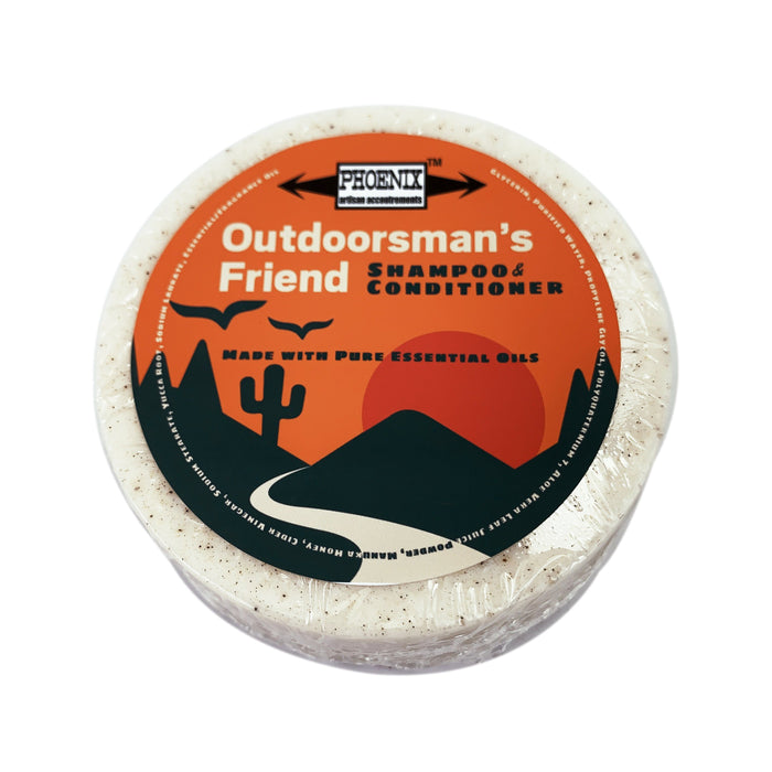 Outdoorsman's Friend Conditioning Shampoo Puck | Made with Essential Oils - Phoenix Artisan Accoutrements