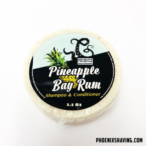 Pineapple Bay Rum Shampoo & Conditioner Puck- Perfect for travel & the gym! - Phoenix Artisan Accoutrements
