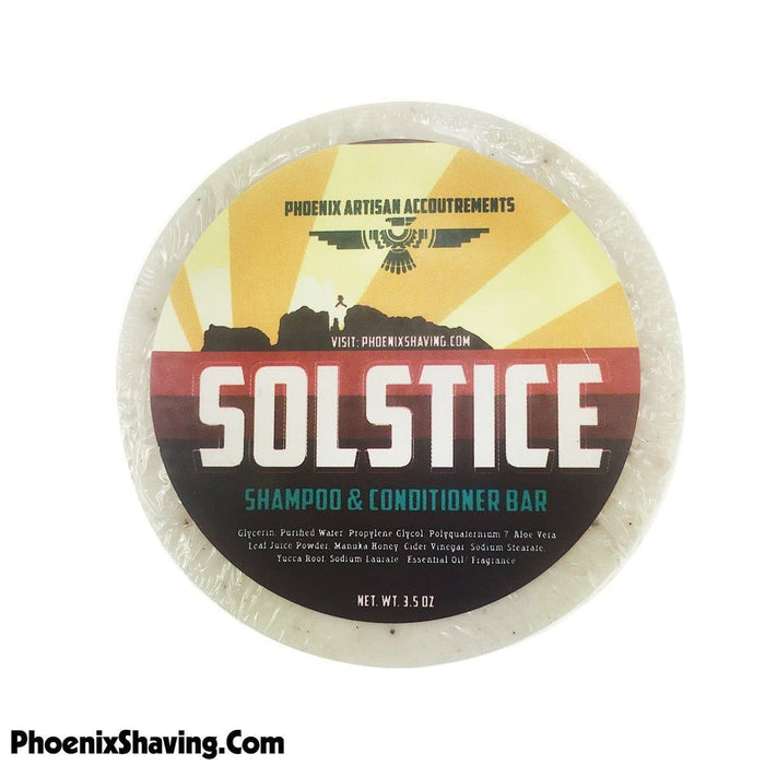 Solstice Shampoo Puck (W/ Yucca Root & Cider Vinegar) - Phoenix Artisan Accoutrements