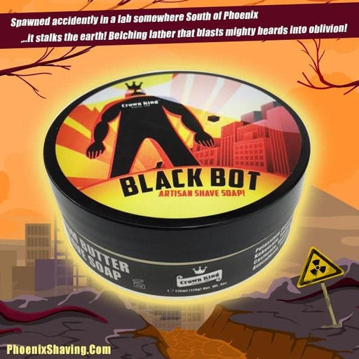 Black Bot Artisan Shave Soap - Crown King Formula - An Epic Homage To Black Belt! - Phoenix Artisan Accoutrements