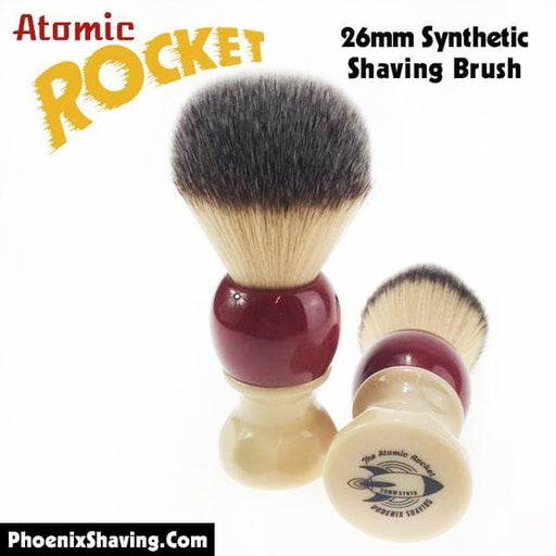 Atomic Rocket 26mm Synthetic Shaving Brush - Suave Knot - Phoenix Artisan Accoutrements