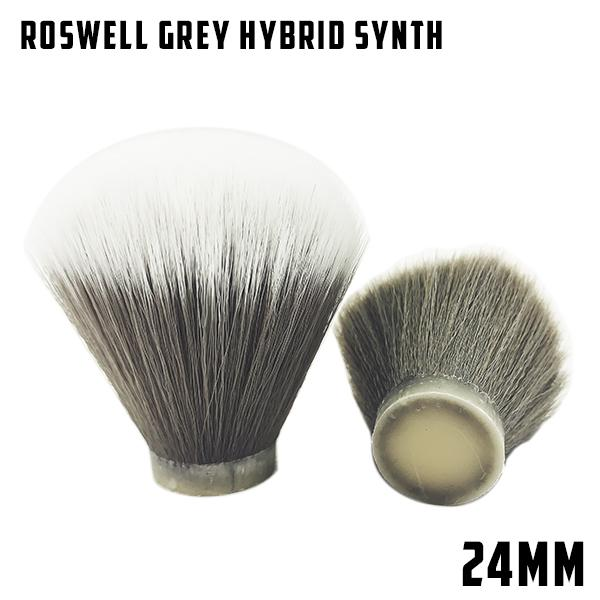 Roswell Grey Hybrid Synthetic 24mm knot | Bulb/Fan - Phoenix Artisan Accoutrements