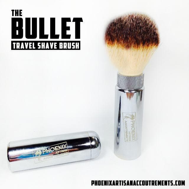The Bullet Travel Shave Brush - Suave 22mm Synthetic - Phoenix Artisan Accoutrements - 1