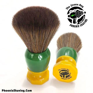 The Green Ray - 24mm Hybrid Tribble Synthetic Brush - Retro Shave Tech!