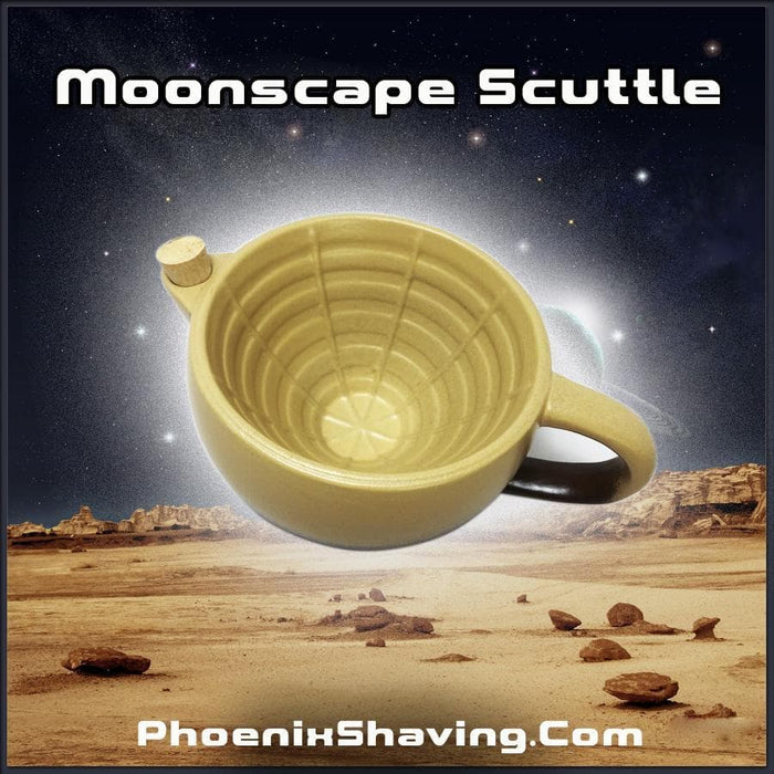 Phoenix Shaving Moonscape Scuttle ~ For Creating & Maintaining A Hot Lather! ~ Ceramic - Phoenix Artisan Accoutrements