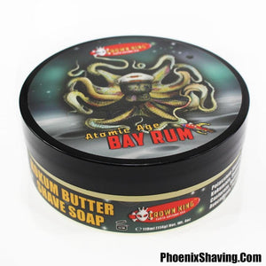 Atomic Age Bay Rum Artisan Shave Soap   Crown King 1 Formula   The Future of Bay Rum!